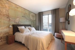 bedroom apartment paris wallpaper