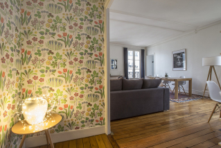 two rooms apartment Paris wallpaper