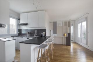 furnished rental modern american kitchen