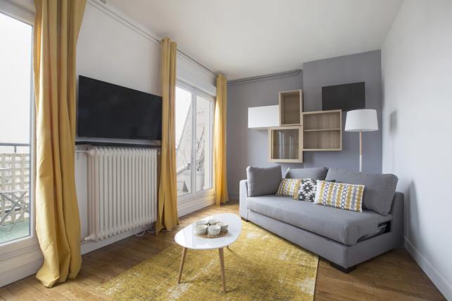 furnished living-room renovation decoration architect Paris