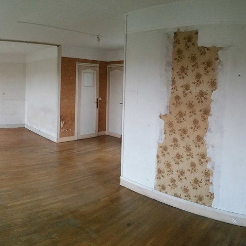 entryway living room renovation paris apartment architect