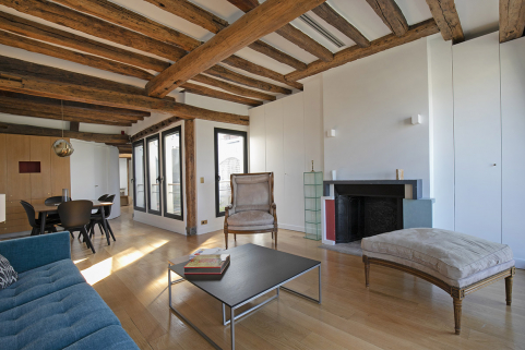 Bright furnished rental in Paris Notre-Dame