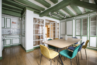 Live in Paris Rent a typical apartment with painted beams cosy atmosphere