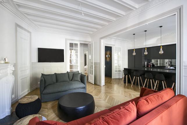 appartement à louer avenue Kléber Paris cuisine ouverte