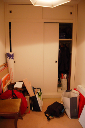 Cupboards of the corridor before the renovation