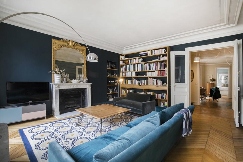 a Haussmannian-style Parisian interior