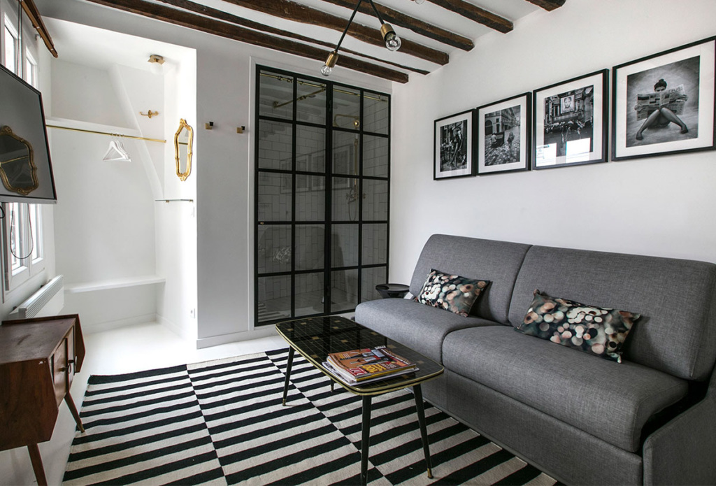 A furnished studio that makes minimalism beautiful - Paris apartments