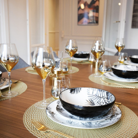 Mealtimes with friends or family in your furnished apartment