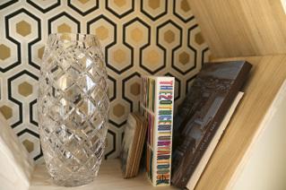 Decorative items in a furnished studio