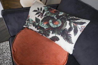Patterns, textures and textiles to try for a sofa