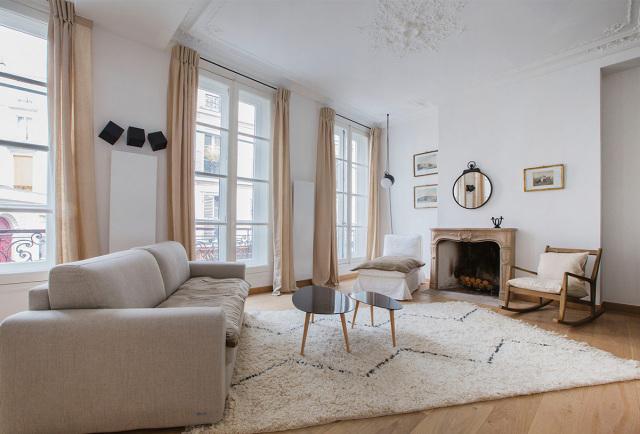 intérieur cosy à Paris location meublée