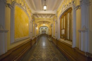 Hall entrée immeuble parisien