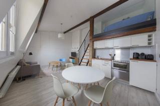 Studio avec mezzanine location meublée Paris