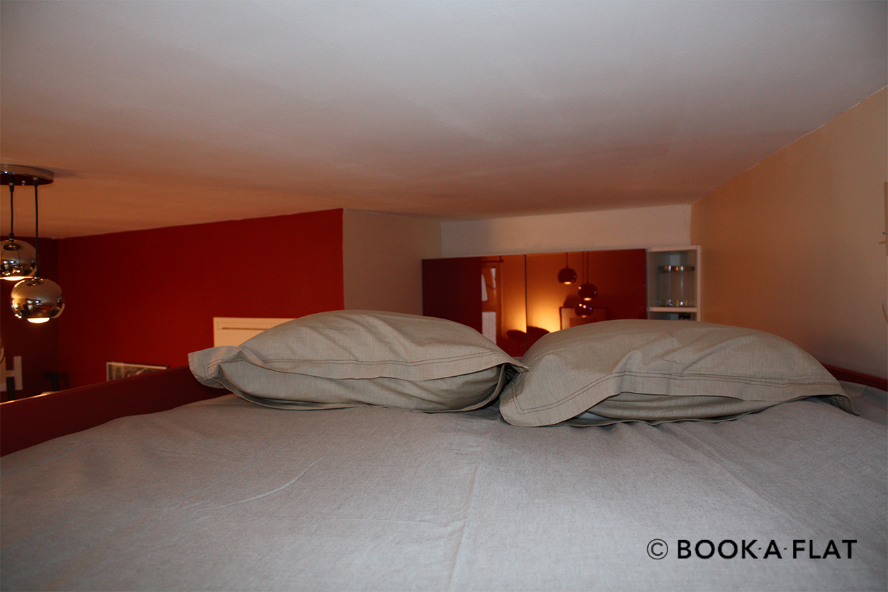Double bed in mezzanine