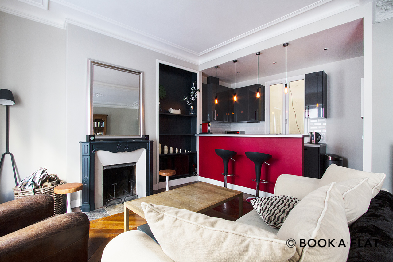 location appartement meubl rue ren boulanger paris ref 10752. Black Bedroom Furniture Sets. Home Design Ideas