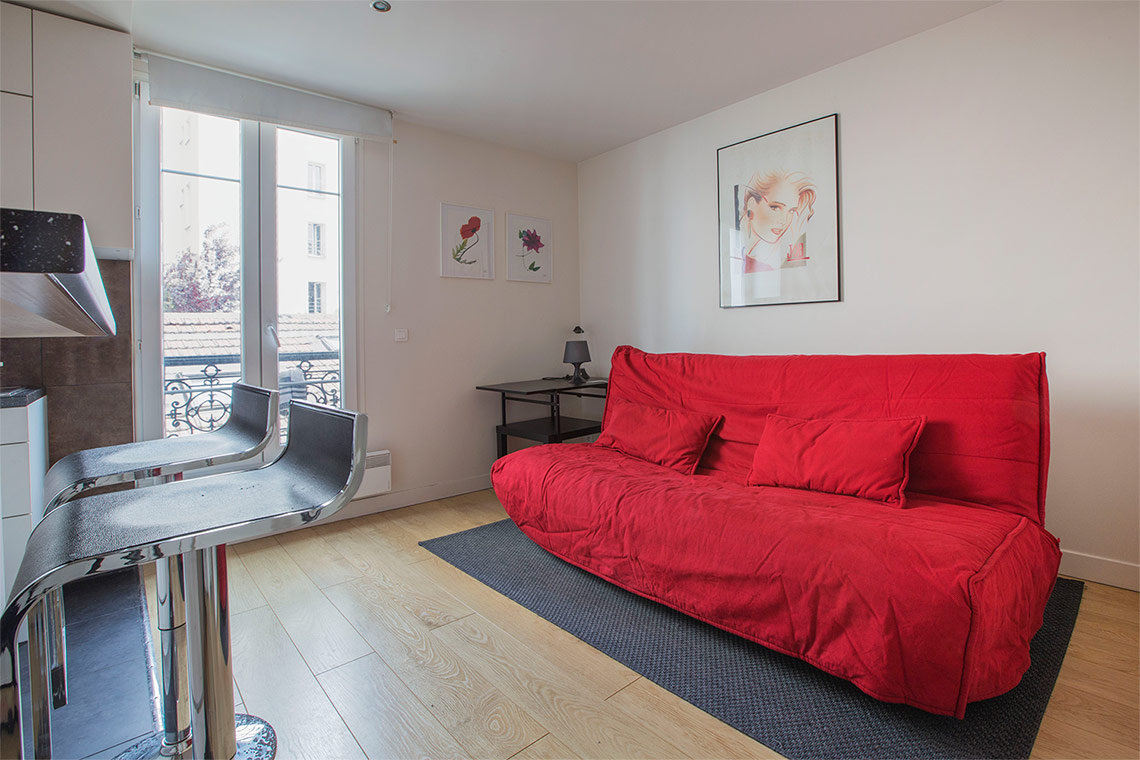 Furnished apartment for rent Paris Rue de Montreuil