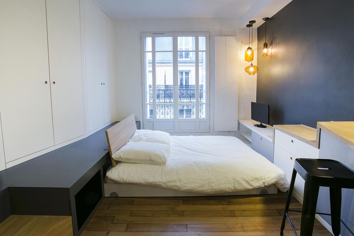 studio for rent rue de la main d 39 or paris ref 11485. Black Bedroom Furniture Sets. Home Design Ideas