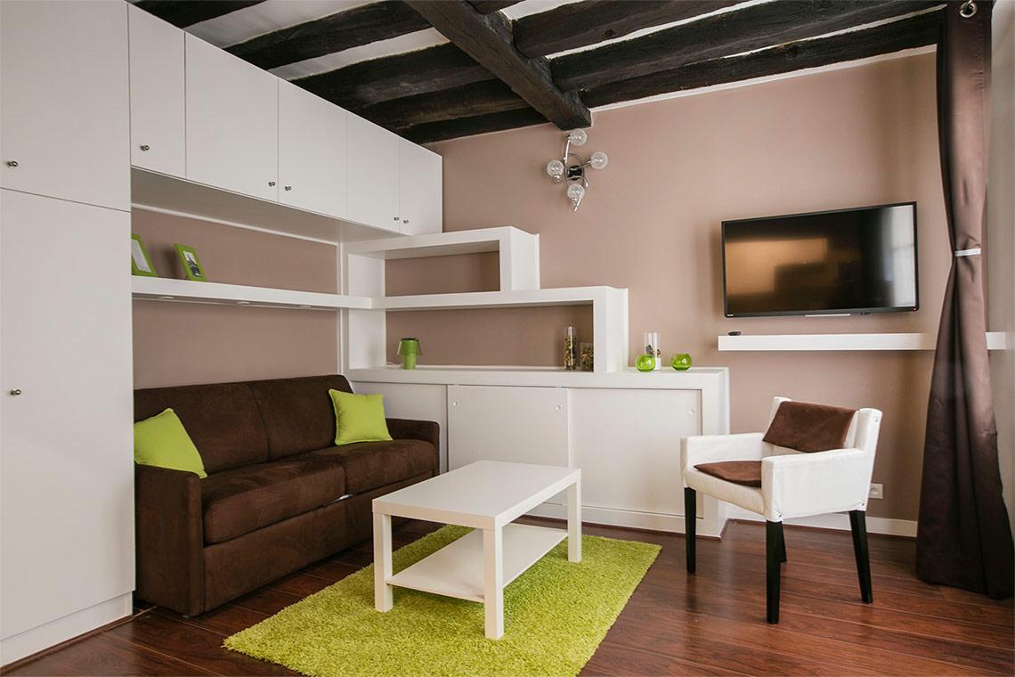 Location studio meubl rue montmartre paris ref 11657 for Location appartement non meuble paris