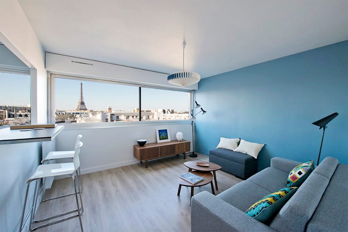 Location studio meubl villa croix nivert paris ref 11818 for Location appartement non meuble paris