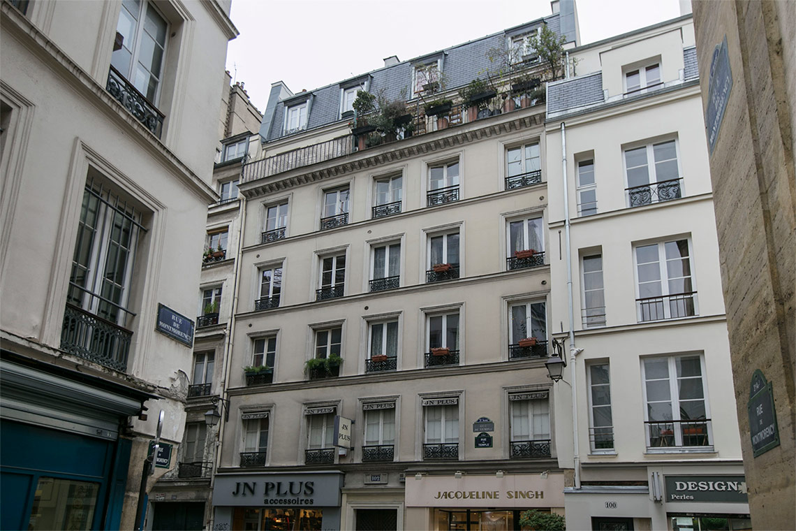 Apartment Paris Rue du Temple 10