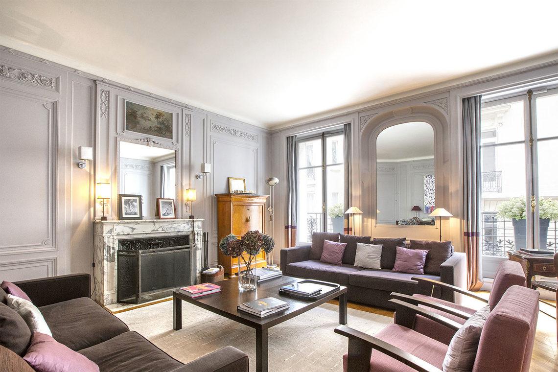 location appartement meubl rue spontini paris ref 13567. Black Bedroom Furniture Sets. Home Design Ideas