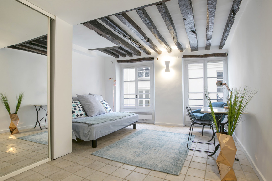 Furnished apartment for rent Paris Rue Geoffroy l'Angevin