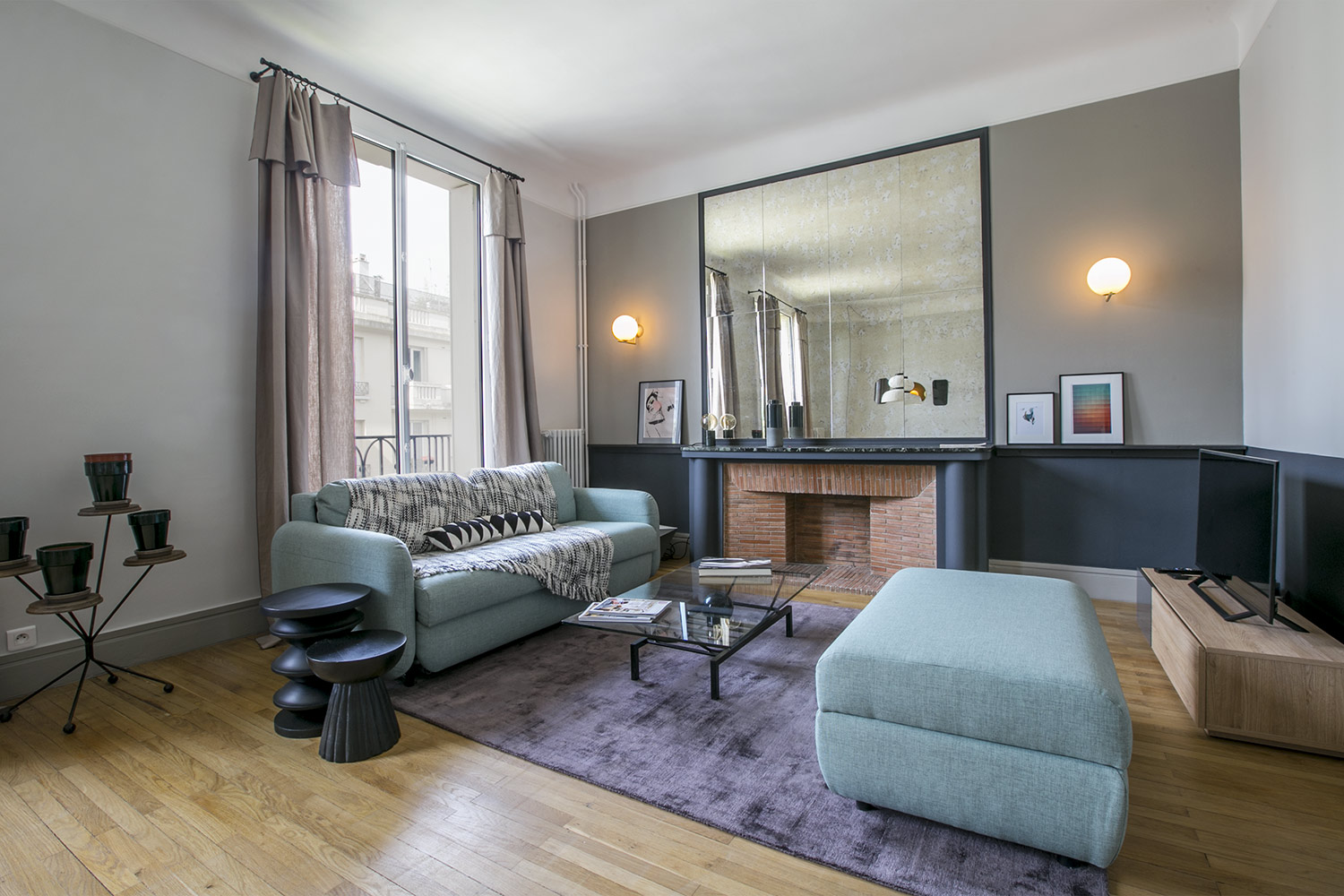 Apartment Paris square Racan