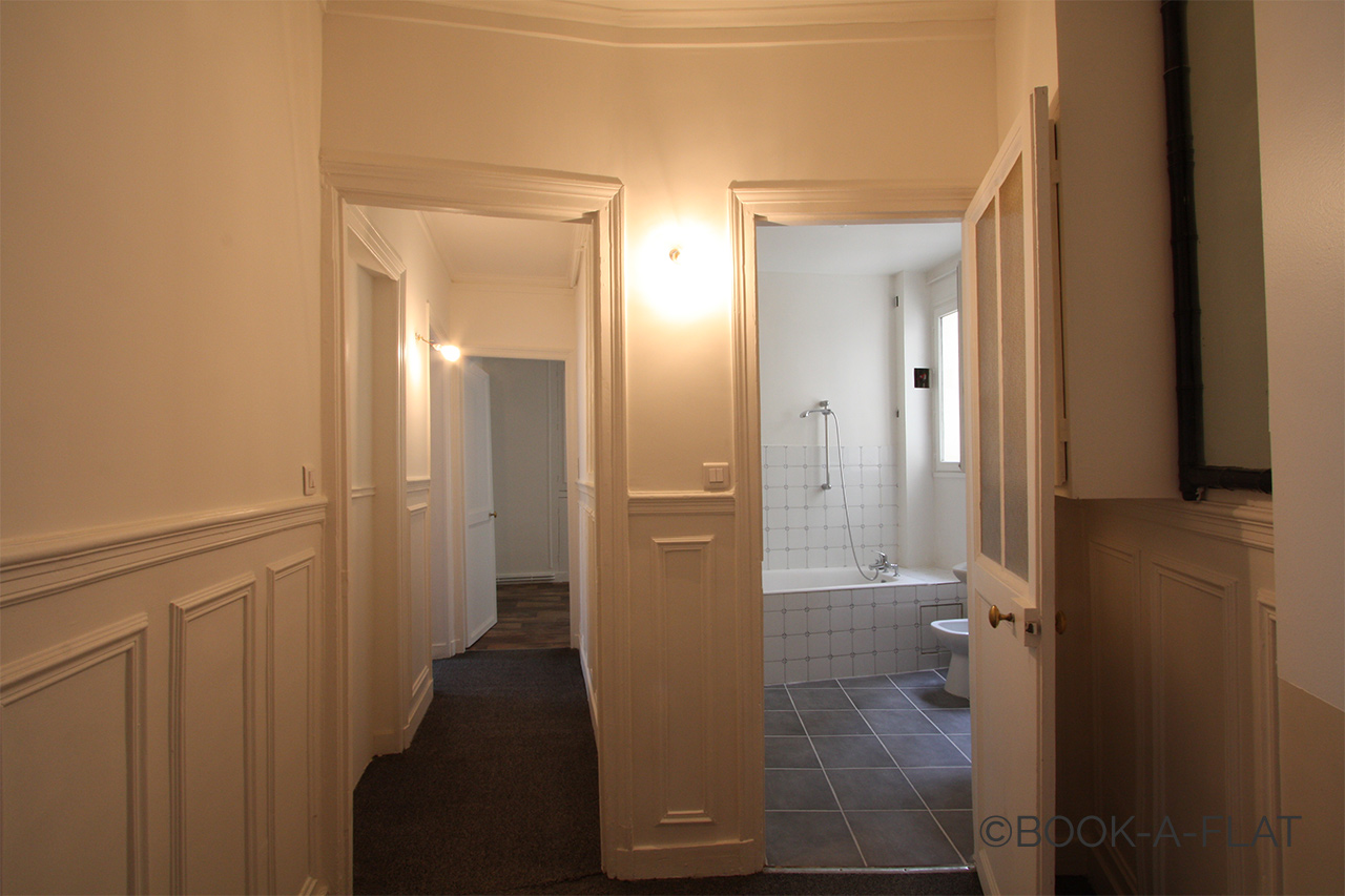 The corridor and the bathroom
