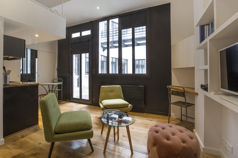 Apartment Paris rue Lucien Sampaix