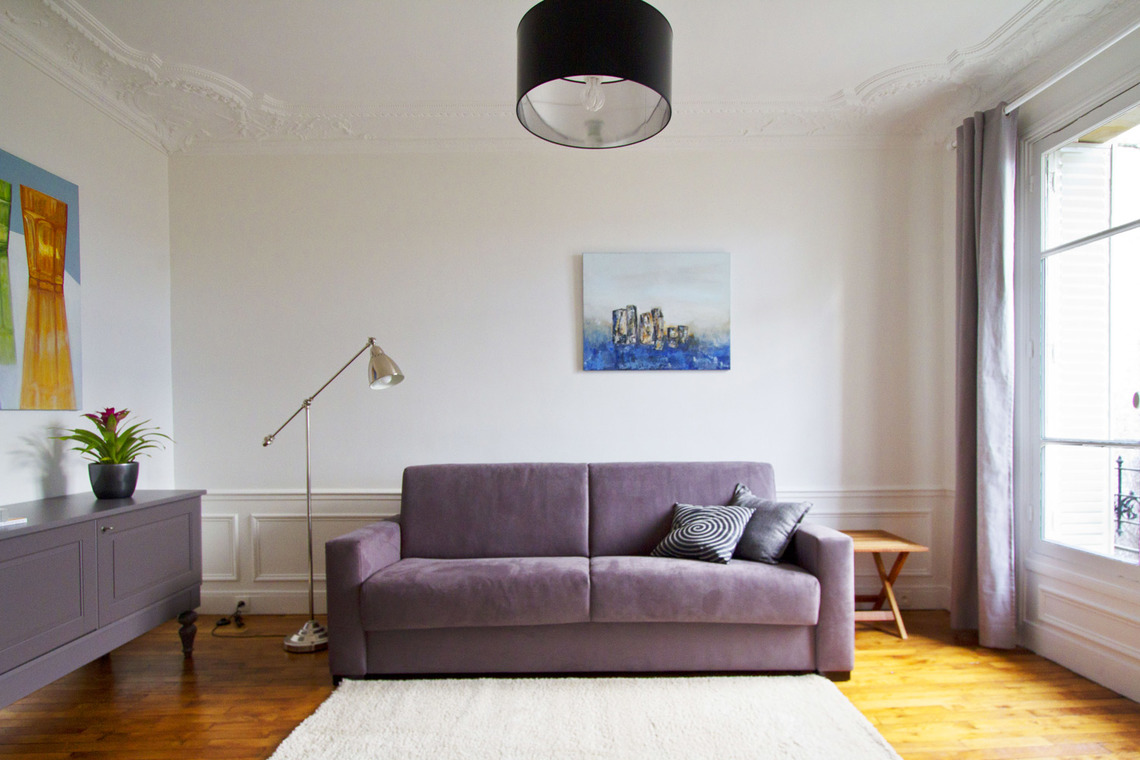 Furnished apartment for rent Paris Rue Oscar Roty