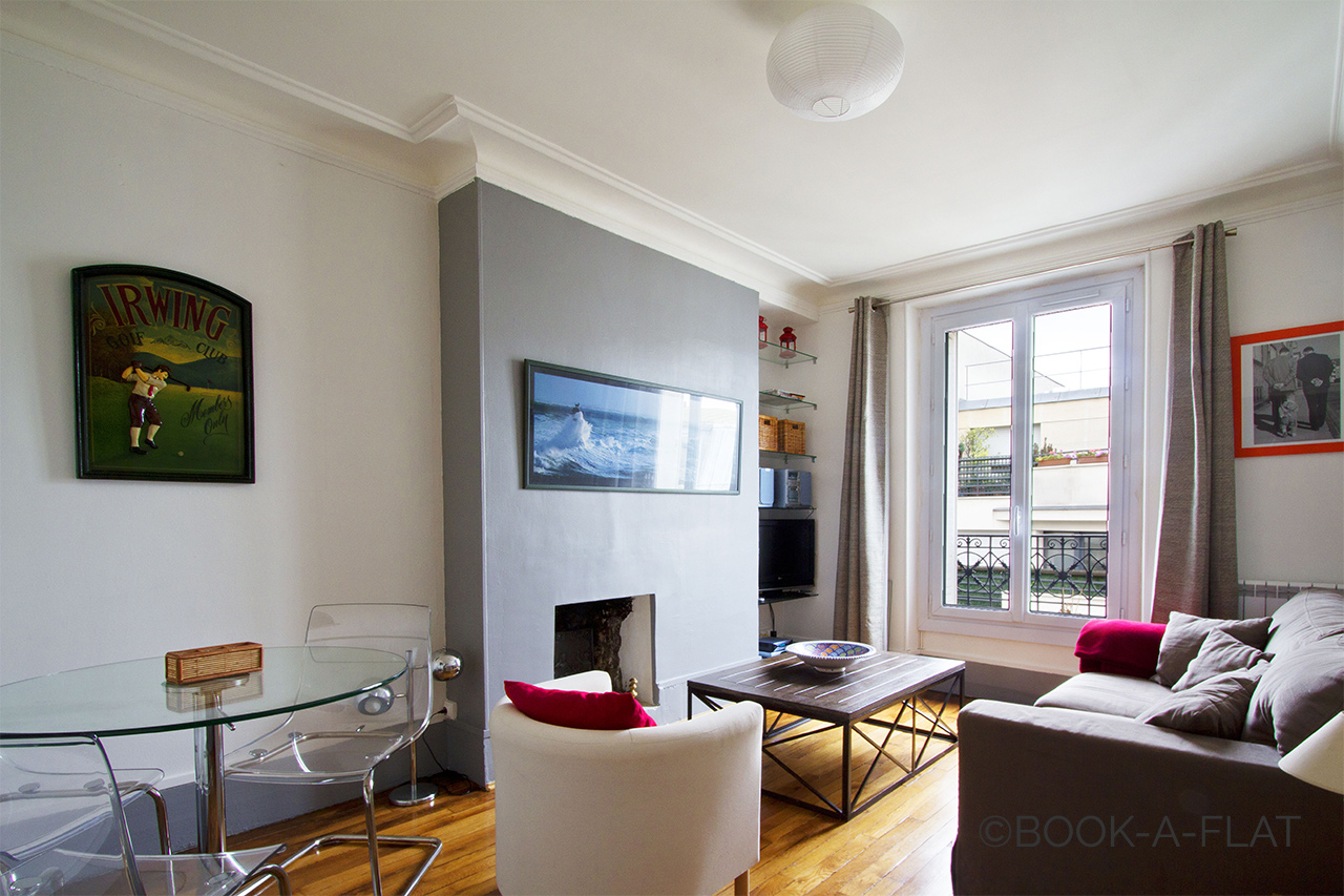 Furnished apartment for rent Levallois Perret Rue Marius Aufan