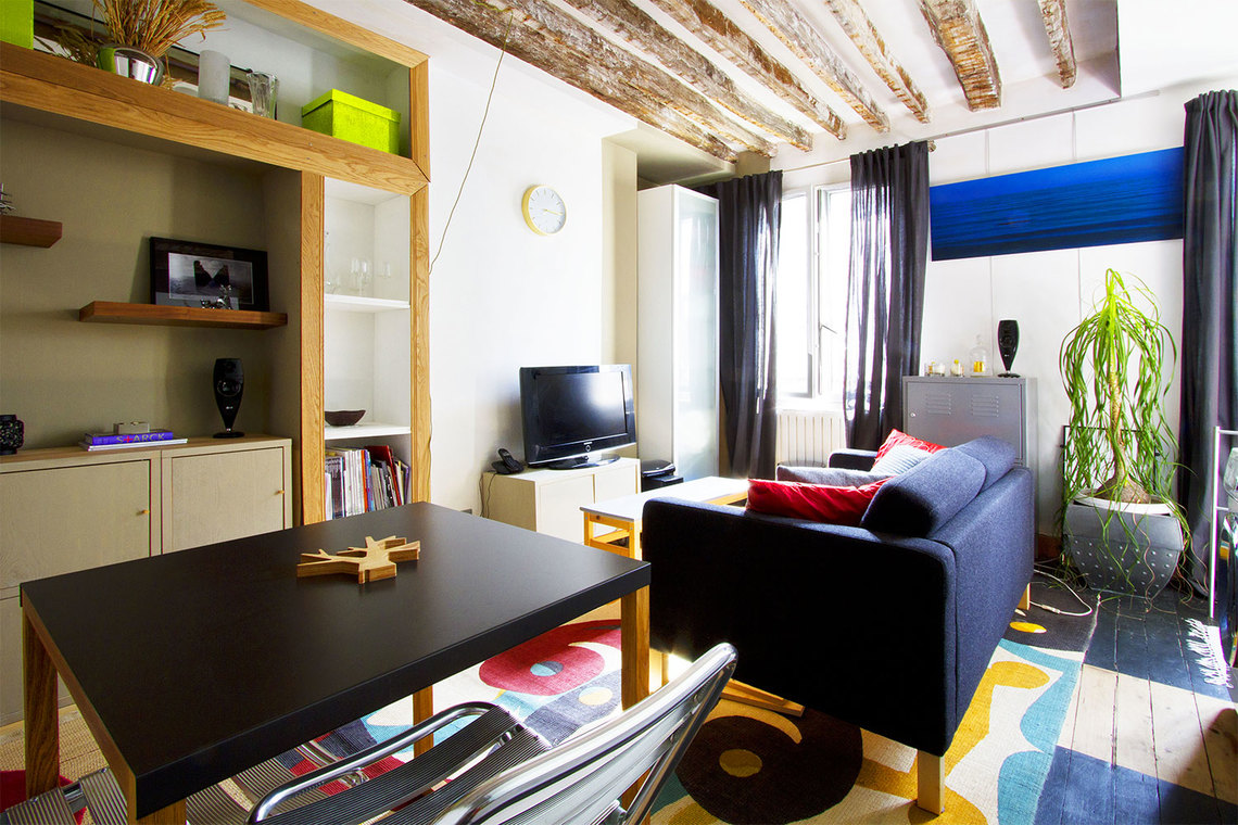 Möblierte Mietwohnung Studio Rue De La Roquette Paris Ref 7051