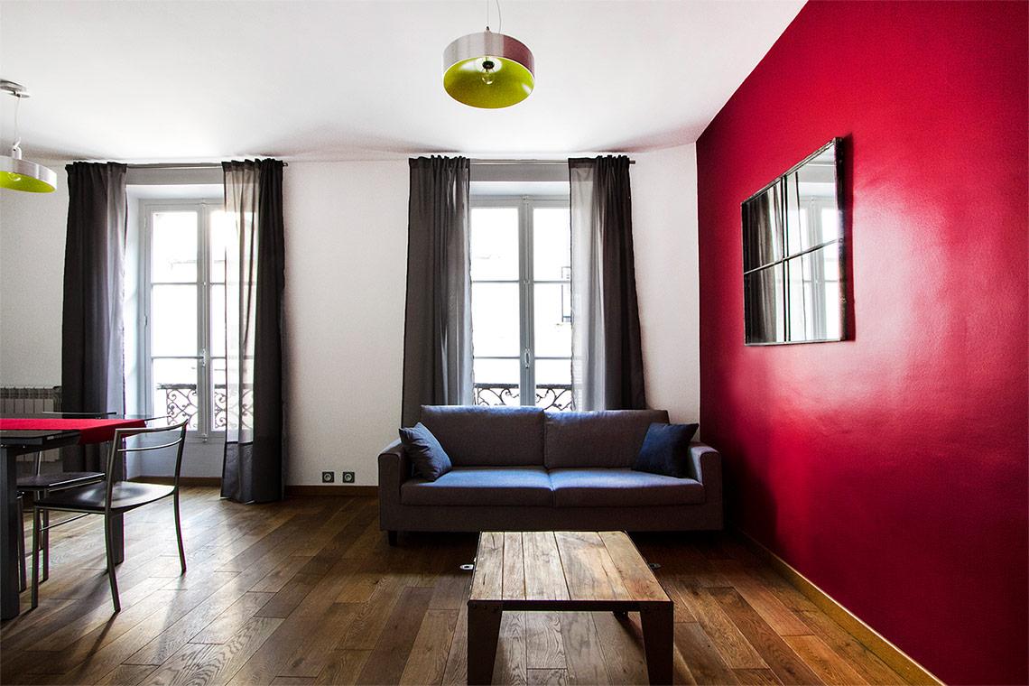 Location appartement meubl rue am lie paris ref 7352 for Appartement meuble a paris