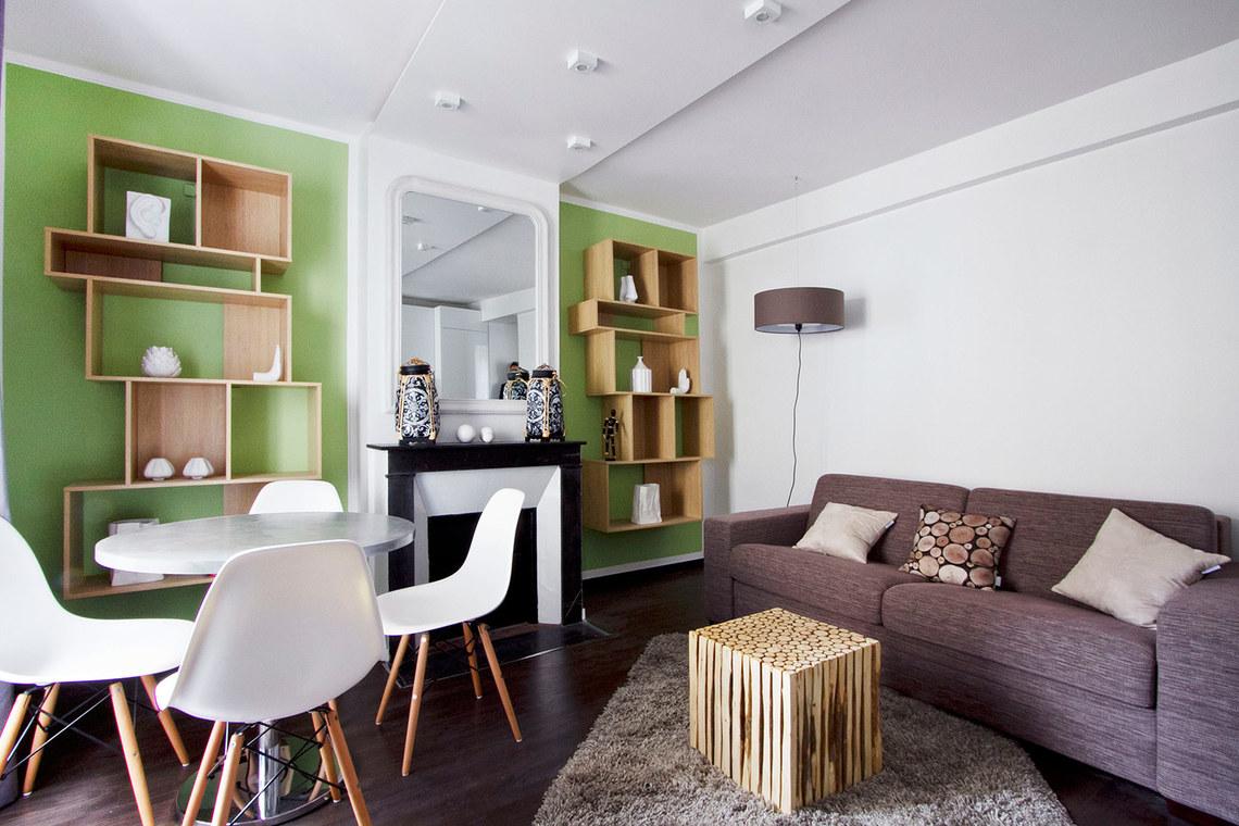 Location appartement meubl rue d 39 aguesseau boulogne for Amenagement interieur salon salle a manger