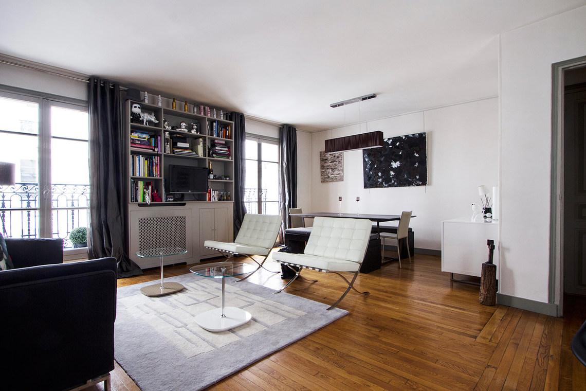 Apartment for rent rue du midi neuilly sur seine ref 9892 - Living room bedroom bathroom kitchen ...